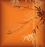 Bambus und Blüte vektor abbildung