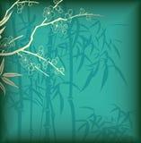 Bambus und Blüte Lizenzfreie Stockfotografie