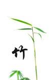 Bambus- und chinesische Kalligraphie Lizenzfreies Stockbild