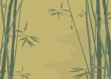 Bambus und Pagode Lizenzfreies Stockbild