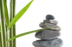 Bambus und Steine Lizenzfreies Stockfoto