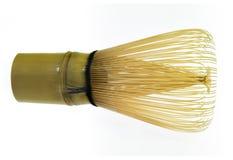 Bambus wischen für grünen Tee Stockfotos