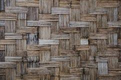 Bambus wyplata ścianę Zdjęcia Royalty Free