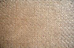 Bambus wyplata tło, bambusowa drewniana tekstura używać dla dekoraci Zdjęcia Royalty Free