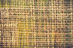Bambus wyplata tekstury deseniowego tło Zdjęcia Royalty Free