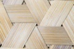 Bambus wyplata trójboka bezszwowego tło Obraz Stock