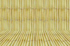 Bambus z bambusową skrzynki tła teksturą Fotografia Stock