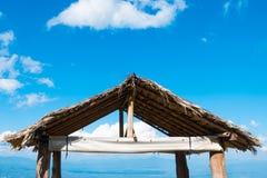 Bambusa dach przy tłem natura widok Fotografia Royalty Free