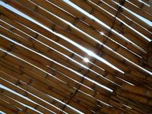 Bambusa dach z słońca shinig Zdjęcie Royalty Free
