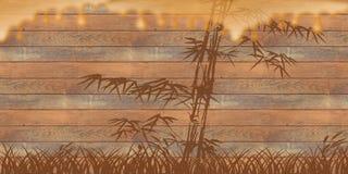bambusa drewno spływowy miodowy Obraz Stock