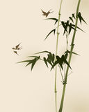 bambusa gałąź orientalny obrazu styl Zdjęcia Royalty Free