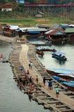 Bambusa most w Tajlandia Zdjęcia Stock