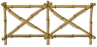 Bambusa ogrodzenie ilustracji