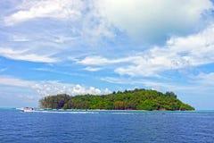bambusa plażowej łódkowatej wyspy długi palmowy ogonu Thailand drzewo Fotografia Royalty Free