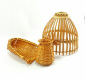 Bambusangelausrüstung stockbild
