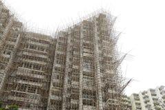 Bambusbaugerüst Stockfotografie
