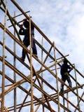 Bambusbaugerüst lizenzfreie stockbilder