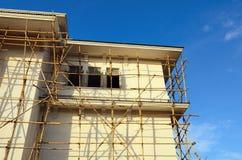BambusBaugerüst in der Baustelle Lizenzfreie Stockfotografie