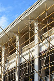BambusBaugerüst in der Baustelle Lizenzfreie Stockbilder