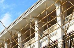 BambusBaugerüst in der Baustelle Lizenzfreies Stockfoto