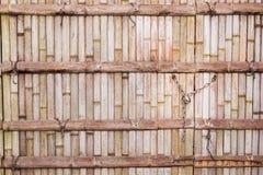 Bambusbeschaffenheit mit Kettensperrtaste Lizenzfreies Stockfoto