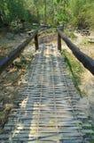 Bambusbrücke Stockfoto