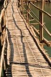 Bambusbrücke Stockbild