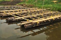 Bambusfloß Lizenzfreie Stockbilder