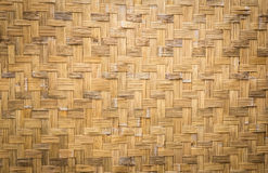 Bambusgewebebeschaffenheit und Hintergrund Lizenzfreies Stockfoto