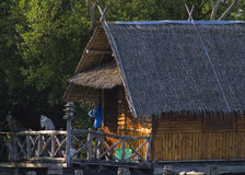 Bambushäuschen lizenzfreie stockbilder