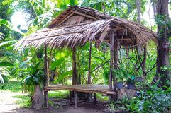 Bambushütte Lizenzfreie Stockfotos