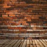 Bambushintergrund und Backsteinmauer Lizenzfreie Stockfotos