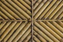 Bambushintergrundbeschaffenheit Abbildung der roten Lilie Stockfotografie