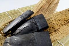 Bambusholzkohle Stockfoto