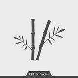 Bambusikone für Netz und Mobile Stockbild