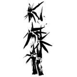 BambuSilhouetteteckning EPS Arkivfoton