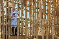 Bambuskäfig Lizenzfreie Stockbilder
