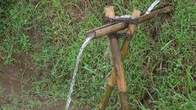 Bambusklempnerarbeit Langsame Bewegung stock video