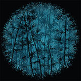 Bambuskog på natten Royaltyfri Foto