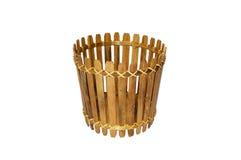 Bambuskorb lokalisiert Stockbilder