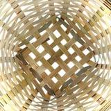 Bambuskorb-Muster Lizenzfreie Stockfotografie