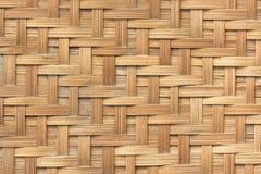 Bambuskorbgeflechtmuster-Beschaffenheitshintergrund Hintergrund und Lizenzfreie Stockbilder