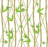 Bambuskottet ställde in Eco den dekorativa beståndsdelen stock illustrationer