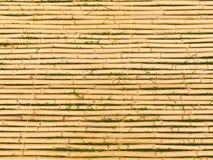 Bambusmatte mit horizontalen Steuerknüppeln Stockbild