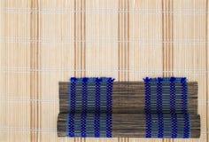 Bambusmattenhintergrund. lizenzfreies stockfoto
