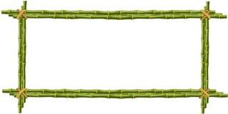 Bambusmodell, Grenze, Schablone, Fotorahmen auf weißem backgrou Stockfotografie