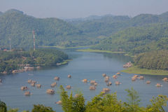 Bambusowa łódź Obraz Royalty Free