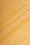 Bambusowa brown słomy mata jako abstrakcjonistyczny tekstury tła compositio Zdjęcia Royalty Free
