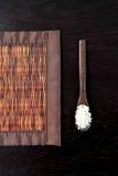 Bambusowa brown słomy mata Fotografia Royalty Free
