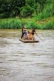 bambusowa flisactwo rzeki Obraz Stock